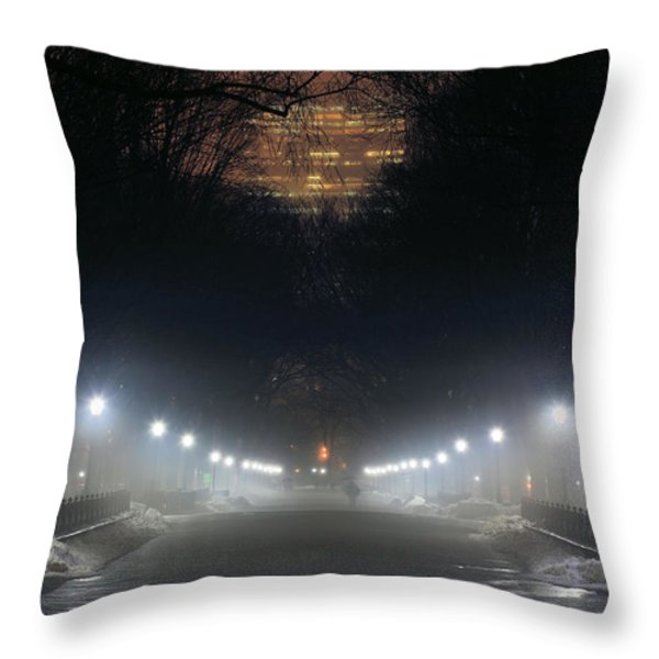 Central Park Shadows Throw Pillow by JC Findley