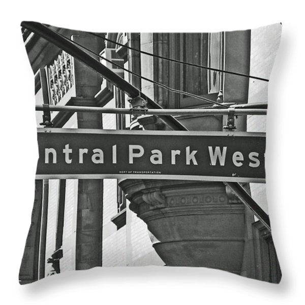 Central Park West Throw Pillow by Sharla Gentile