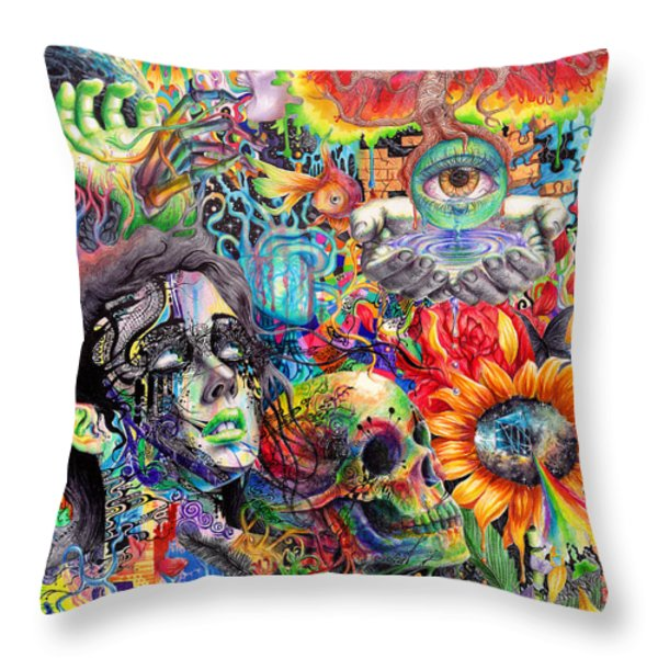 Cerebral Dysfunction Throw Pillow by Callie Fink