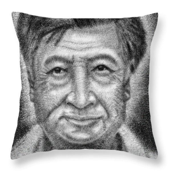 Cesar el Santo Throw Pillow by Roberto Valdes Sanchez