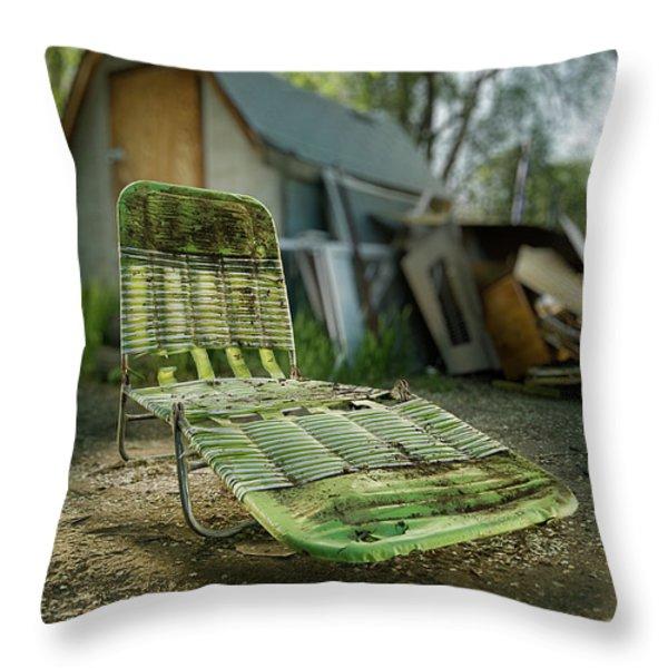 Chaise Lounge Throw Pillow by Yo Pedro