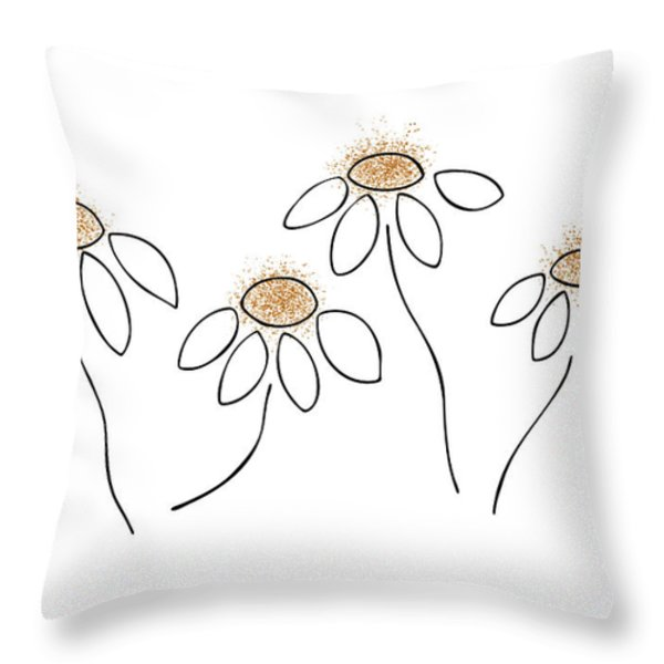 Chamomile Throw Pillow by Frank Tschakert