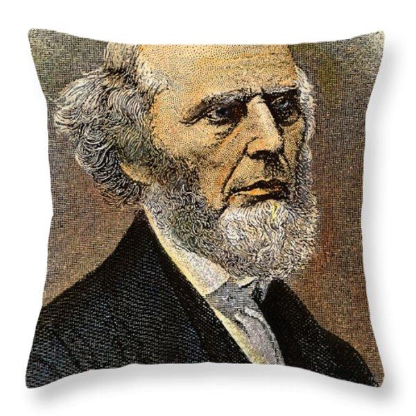 Charles Grandison Finney Throw Pillow by Granger