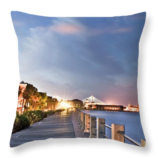 Charleston Battery Photography Throw Pillow by Dustin K Ryan