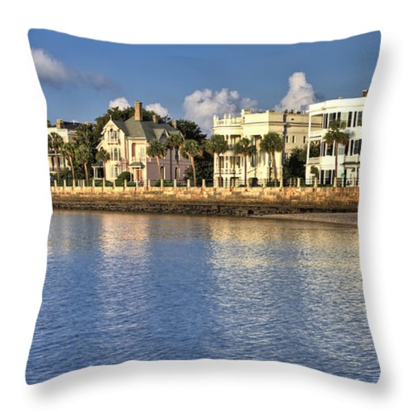 Charleston Battery Row South Carolina  Throw Pillow by Dustin K Ryan