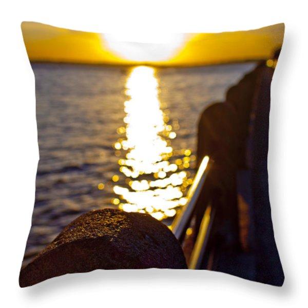 Charleston Sunset Throw Pillow by Dustin K Ryan
