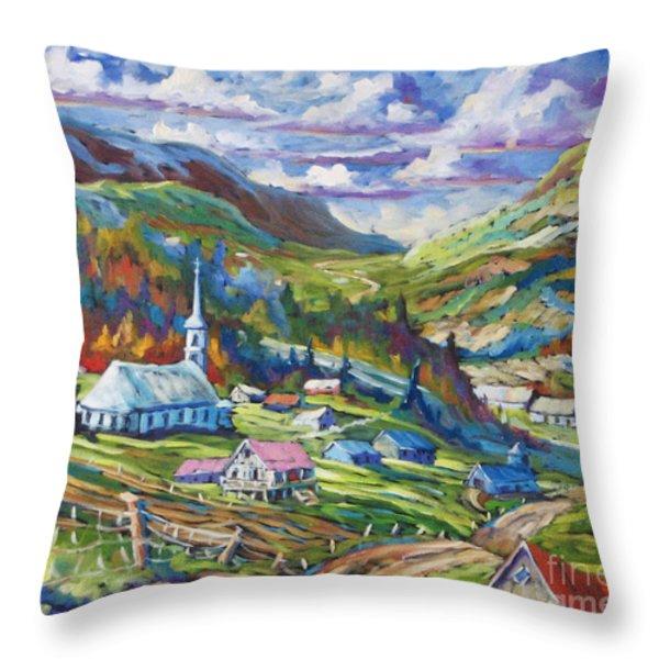 Charlevoix Inspiration Throw Pillow by Richard T Pranke