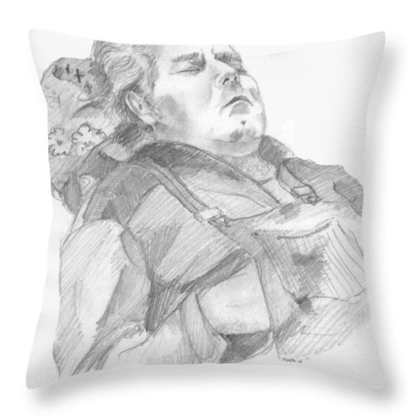 Charlie Throw Pillow by John Keaton