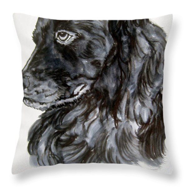 Charlie Throw Pillow by Lil Taylor