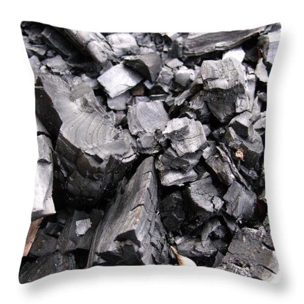 Charred Throw Pillow by Anna Villarreal Garbis