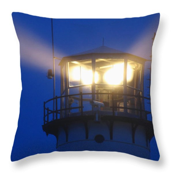 Chatham Light Throw Pillow by Juergen Roth