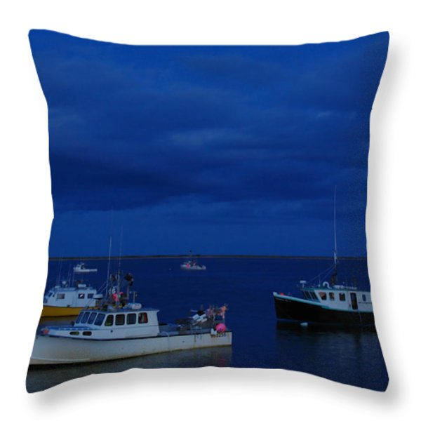 Chatham Pier Throw Pillow by Juergen Roth