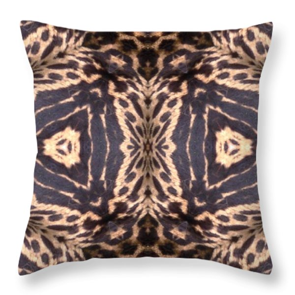 Cheetah Print Throw Pillow by Maria Watt