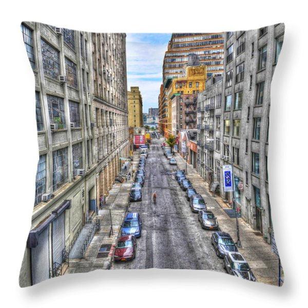Chelsea Street From The High Line Throw Pillow by Randy Aveille