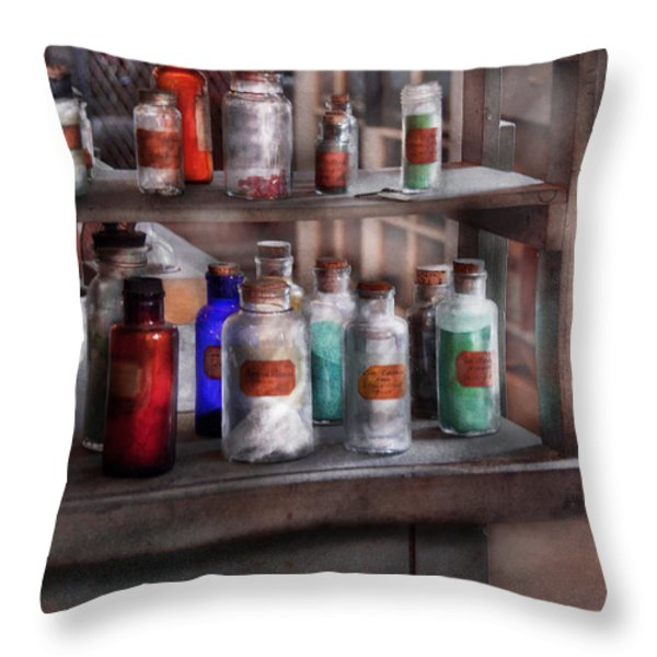 Chemistry - Ready to experiment  Throw Pillow by Mike Savad