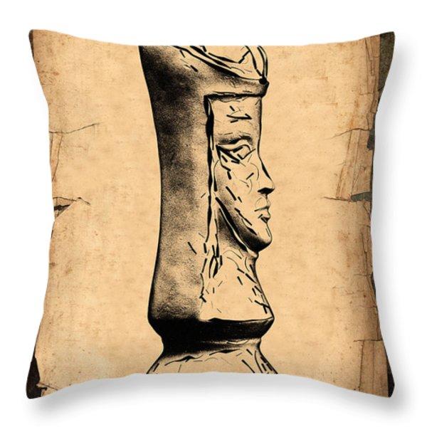 Chess Queen Throw Pillow by Tom Mc Nemar