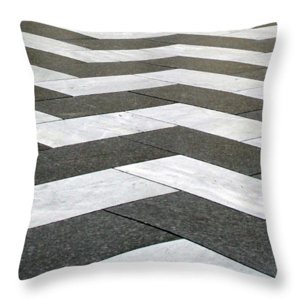Chevron  Throw Pillow by Linda Woods
