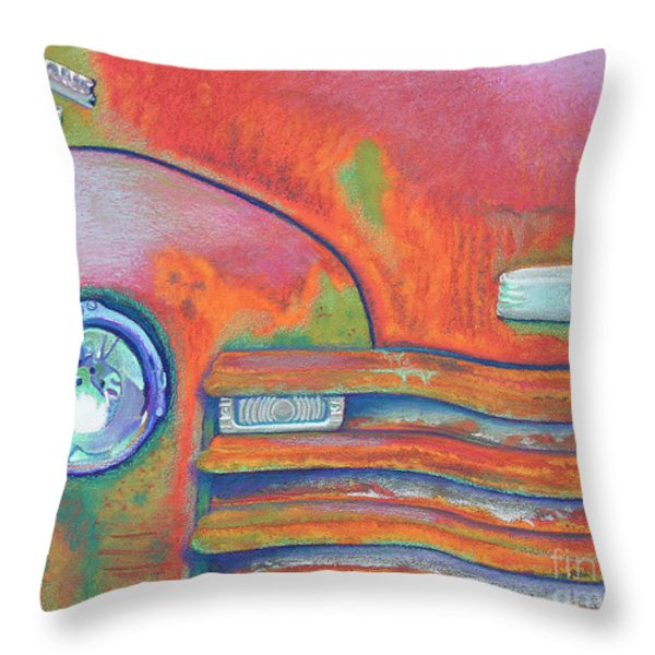 Chevy Rust Throw Pillow by Tracy L Teeter