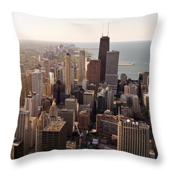 Chicago Throw Pillow by Steve Gadomski