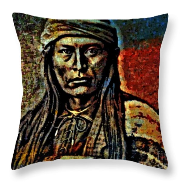 Chief Cochise Throw Pillow by WBK