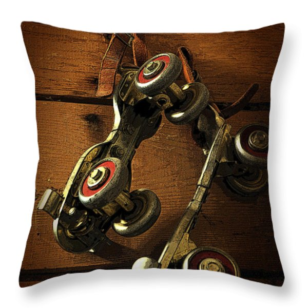 Childhood Memories Throw Pillow by Fran Riley