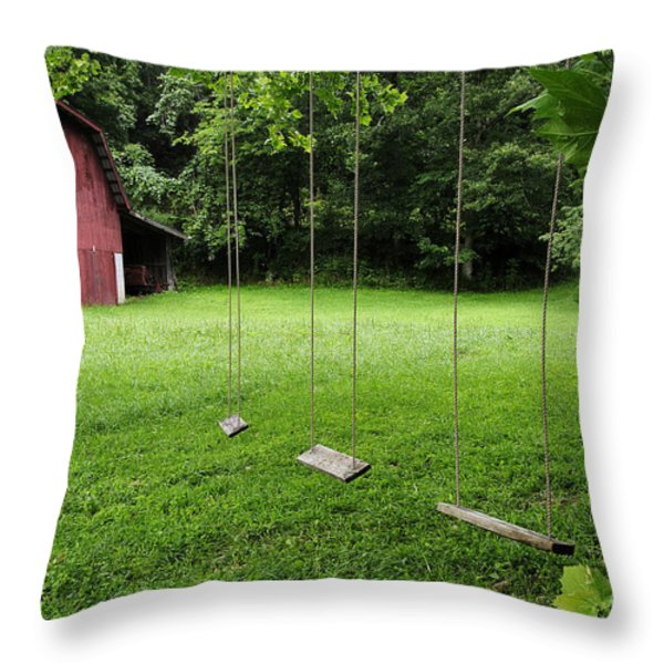 Childhood Memories Throw Pillow by Thomas R Fletcher