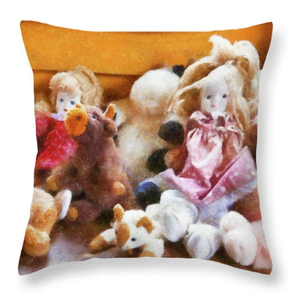 Children - Toys - Childhood Toys  Throw Pillow by Mike Savad