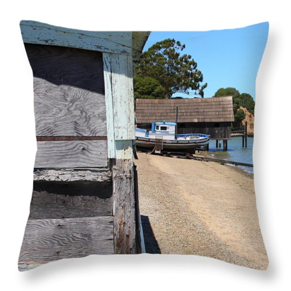 China Camp In Marin Ca - Vertical Throw Pillow by Wingsdomain Art and Photography