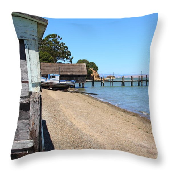 China Camp In Marin Ca Throw Pillow by Wingsdomain Art and Photography