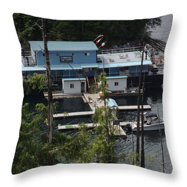 Chinootka Lodge Close-up Throw Pillow by Nootka Sound