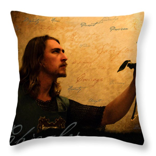 Chivalry Reborn Throw Pillow by Christopher Gaston
