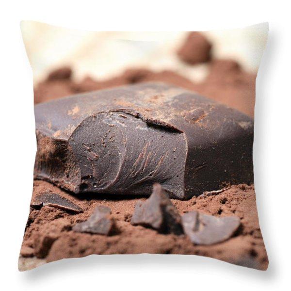 Chocolate Throw Pillow by Frank Tschakert