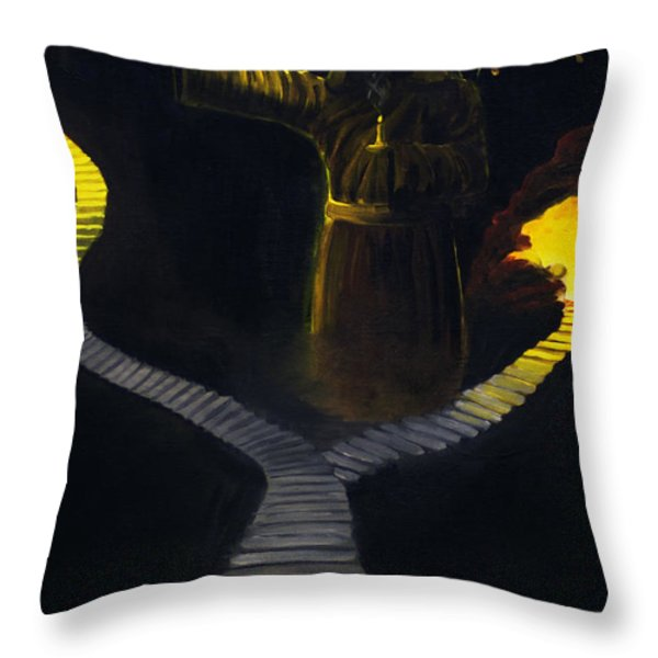 Chosen Path Throw Pillow by Brian Wallace