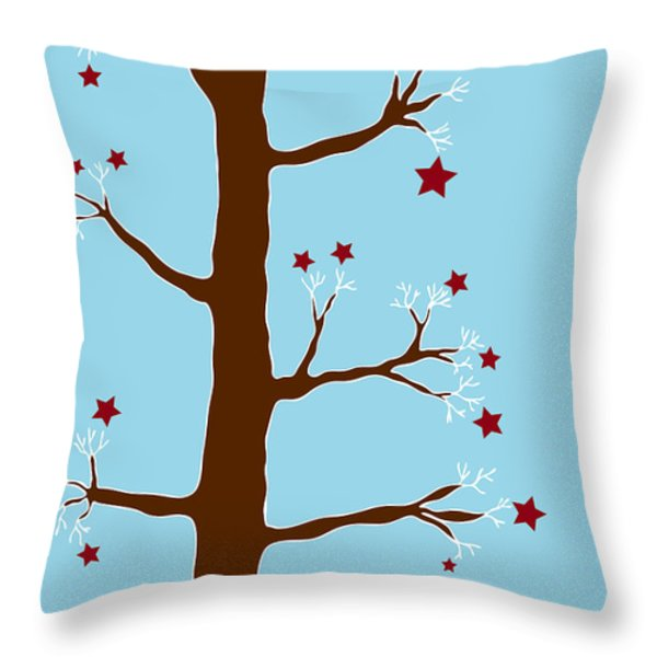 Christmas Tree Throw Pillow by Frank Tschakert