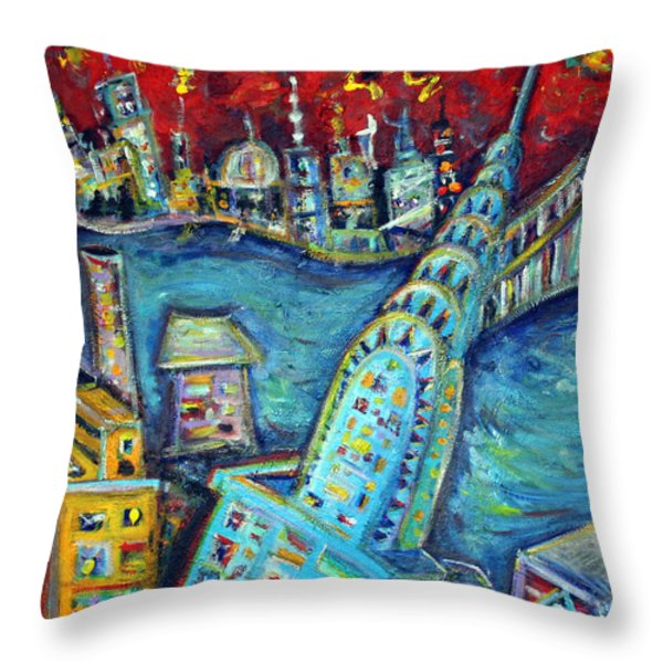 Chrysler Building Throw Pillow by Jason Gluskin