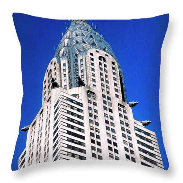 Chrysler Building Throw Pillow by John Greim