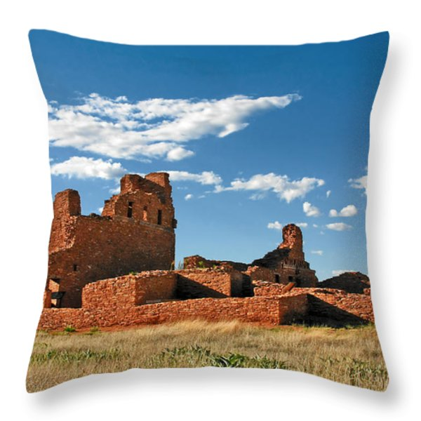 Church Abo - Salinas Pueblo Missions Ruins - New Mexico - National Monument Throw Pillow by Christine Till