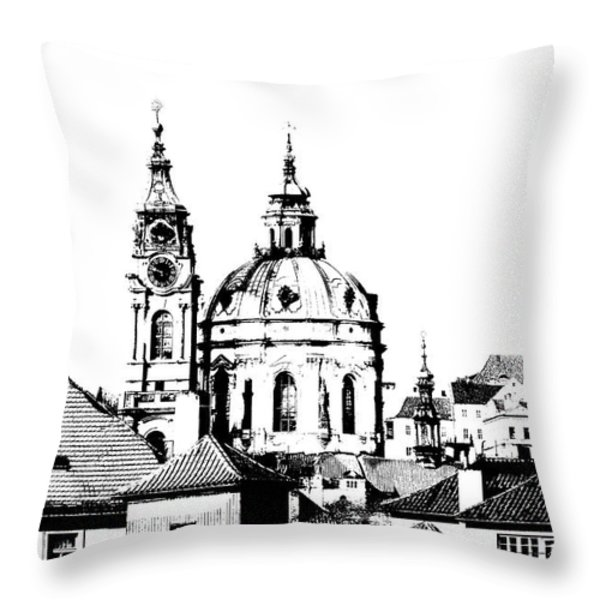 Church of St Nikolas Throw Pillow by Michal Boubin