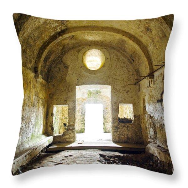 Church Ruin Throw Pillow by Carlos Caetano