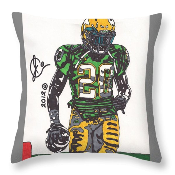 Cierre Wood Throw Pillow by Jeremiah Colley