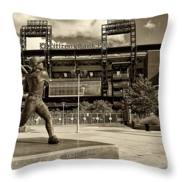 Citizens Park 2 Throw Pillow by JACK PAOLINI