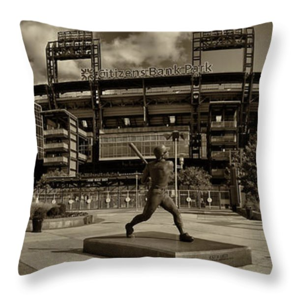 Citizens Park Panoramic Throw Pillow by JACK PAOLINI