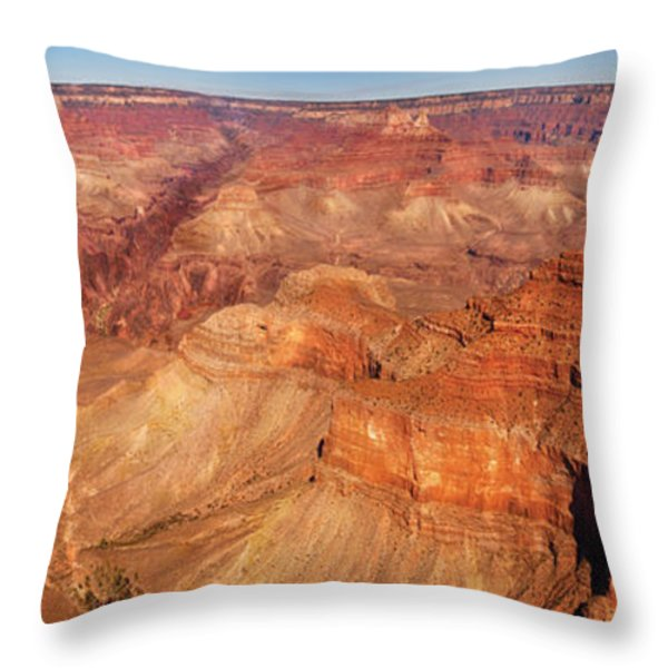 City - Arizona - Grand Canyon - The Great Grand View Throw Pillow by Mike Savad