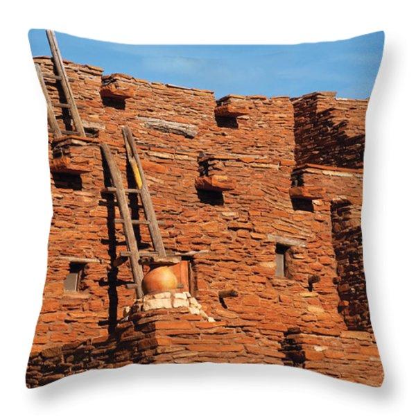 City - Arizona - Pueblo Throw Pillow by Mike Savad