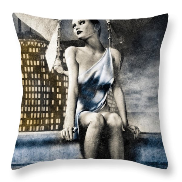 City Angel -2 Throw Pillow by Bob Orsillo