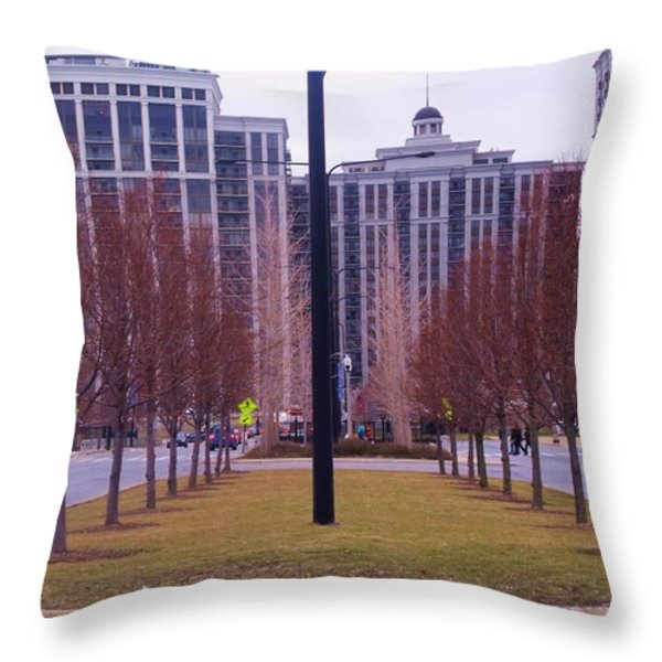 City Symmetry Throw Pillow by Anna Villarreal Garbis