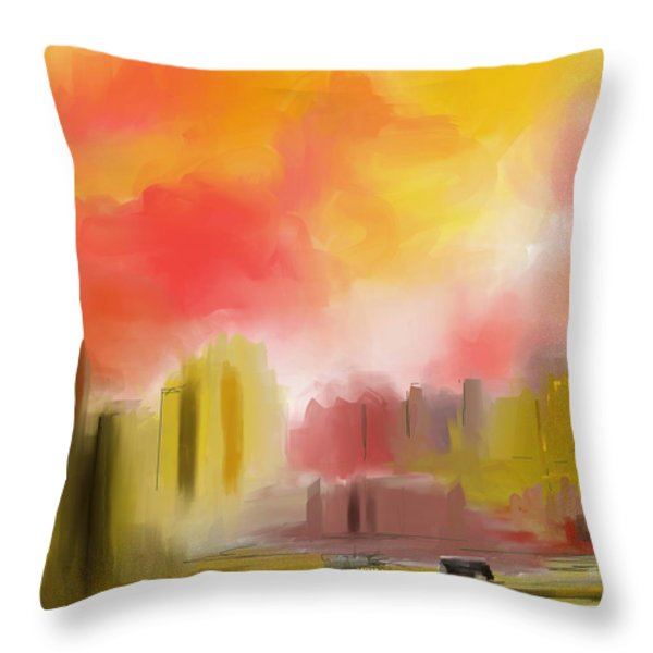 Cityscape Throw Pillow by David Lane