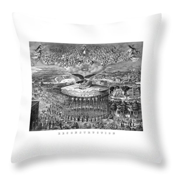 Civil War Reconstruction Throw Pillow by War Is Hell Store