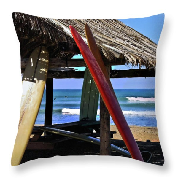 Classic Boards Throw Pillow by Julianne Bradford