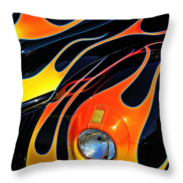 Classic Flames Throw Pillow by Perry Webster